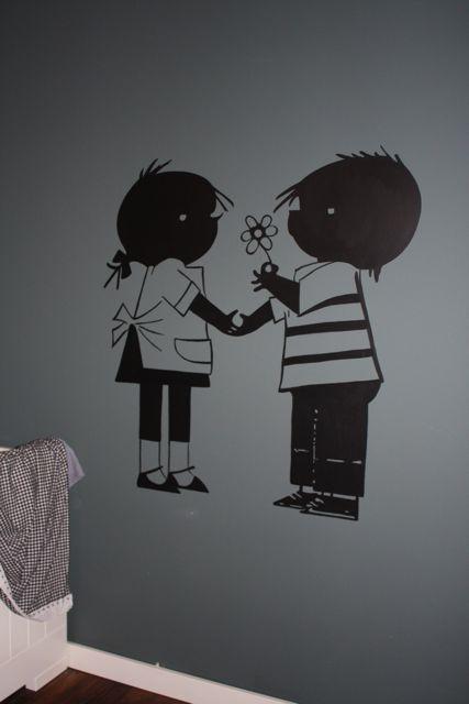Jip en janneke muursticker beste inspiratie voor huis ontwerp - Grijs muurschildering ...
