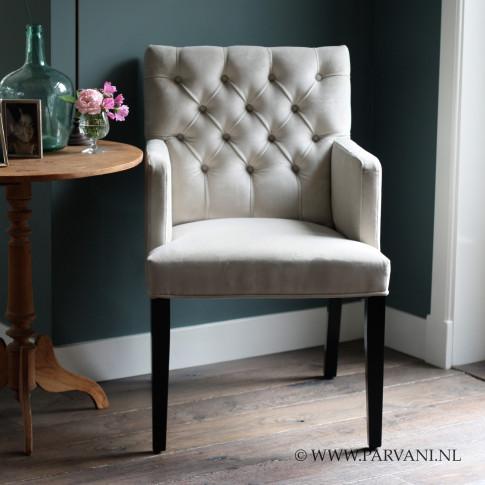 Parvani stoelen banken for Eetkamerstoelen grijs met armleuning