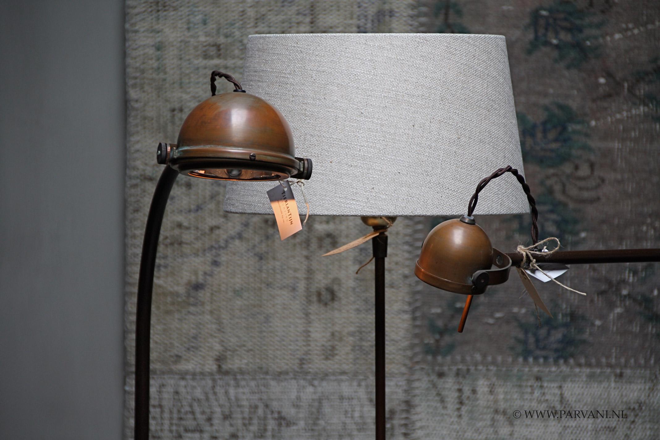 Parvani staande lampen tierlantijn koper spezia lupia leeslamp
