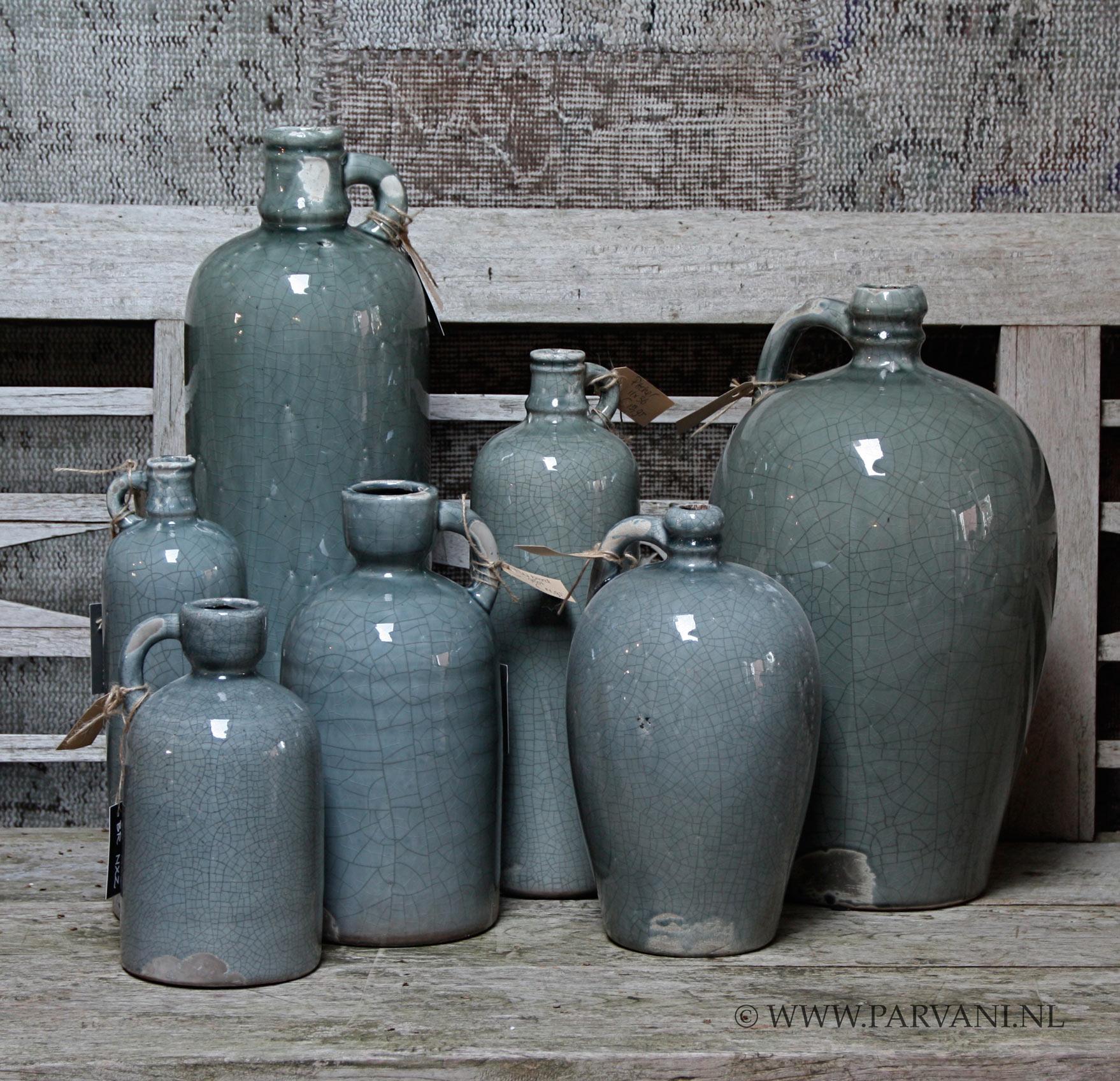 Parvani  Vazen-groen-grijs-Brynxz-flessen-potten-blauw